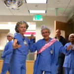 Working seniors : a 90-year-old nurse celebrates her birthday in Washington
