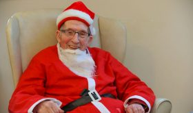 A 94-year-old man dresses up as Father Christmas to raise money for Alzheimer's charity