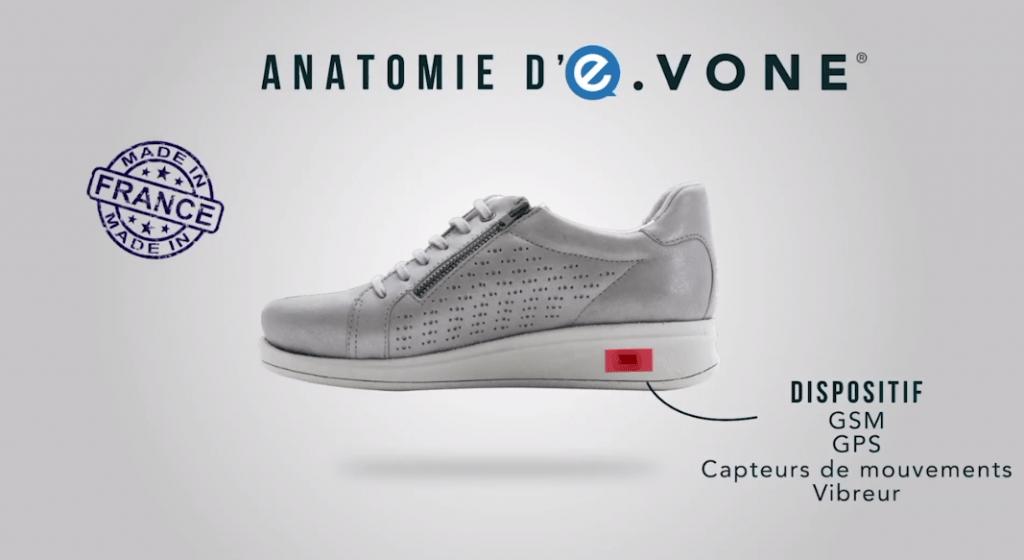 E-vone smart shoe for elderly people