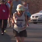 85 years old, a good stride and a world record for this South African grandmother