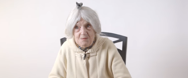When centenarians give advice on beauty